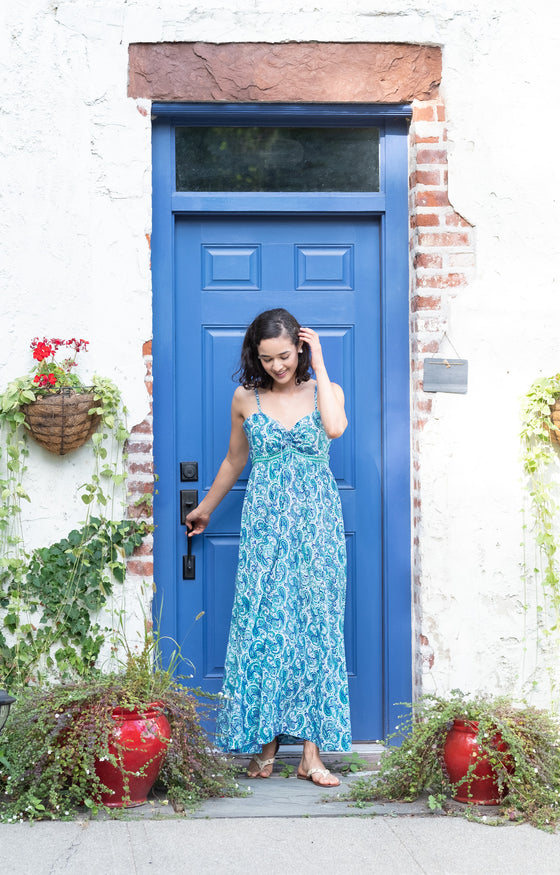 Maxi Dress in Sea Swirl