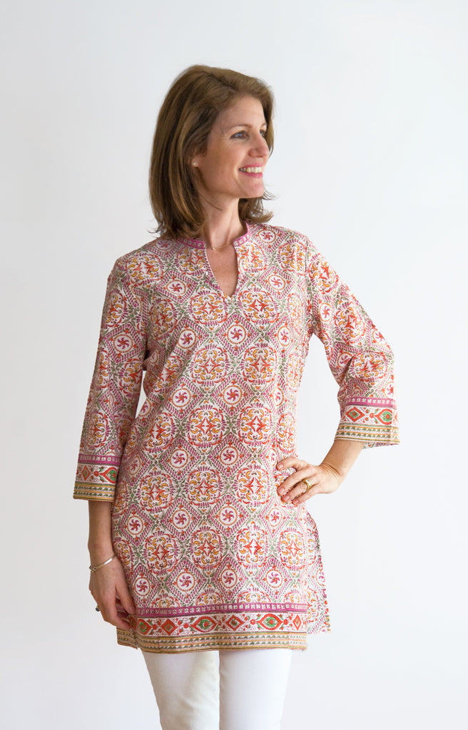 Straight Tunic in Summer Kaleidoscope