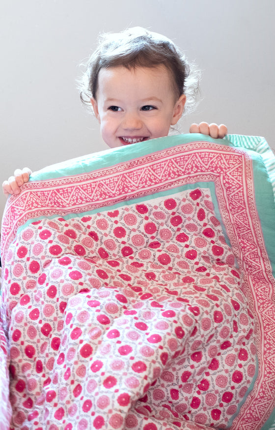 Baby Quilt in Sweet Rose