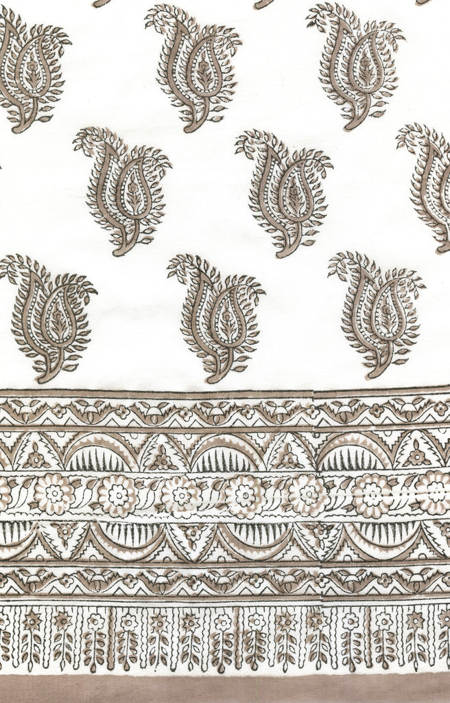 Scarf in Taupe Paisley