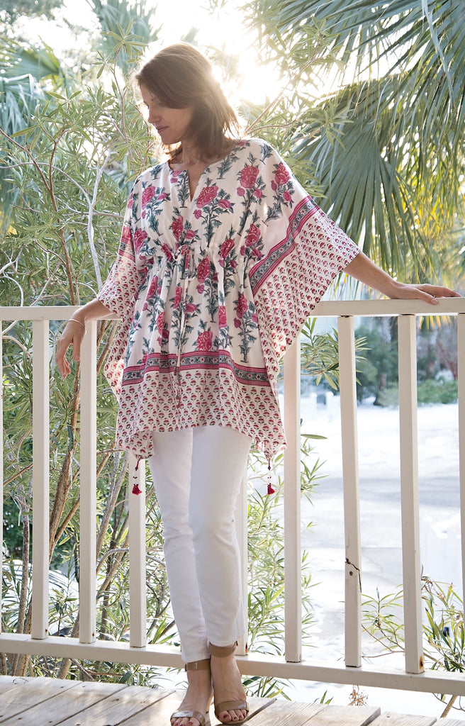 Peasant Tunic in Tea Rose
