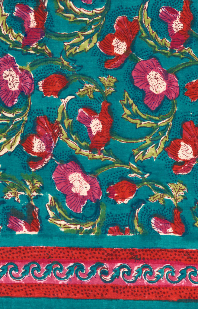 Scarf in Teal Floral