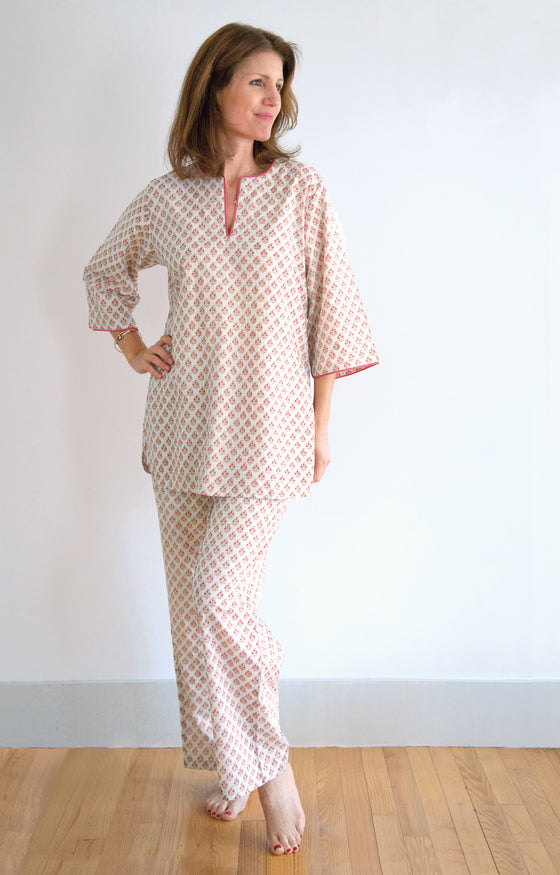 Pajamas in Tiny Coral
