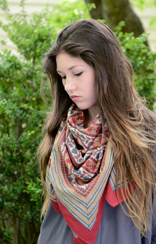 Scarf in Tulip Stripe