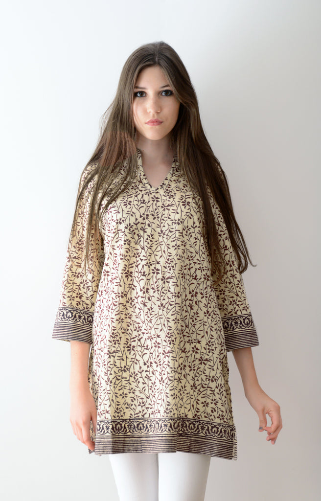 Straight Tunic in Twigs
