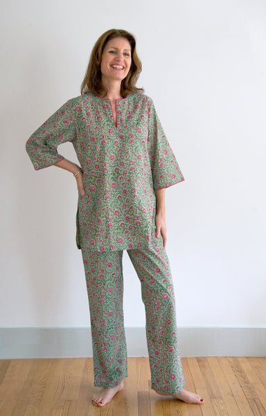 Block Printed Cotton Sleepwear Pajamas Amp Nighties