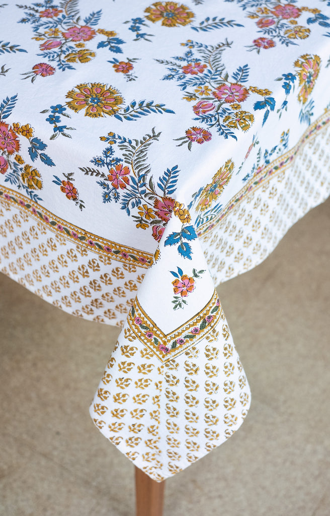 Table Linens in Vintage Flowers