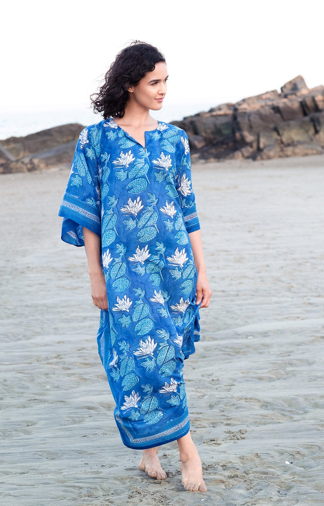 Kaftan in Water Lily