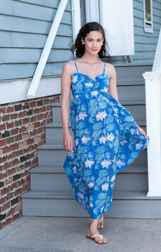 Maxi Dress in Water Lily