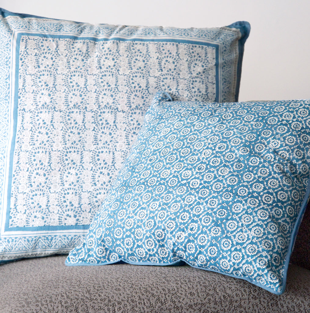 Cushion Covers in Wedgwood Lace