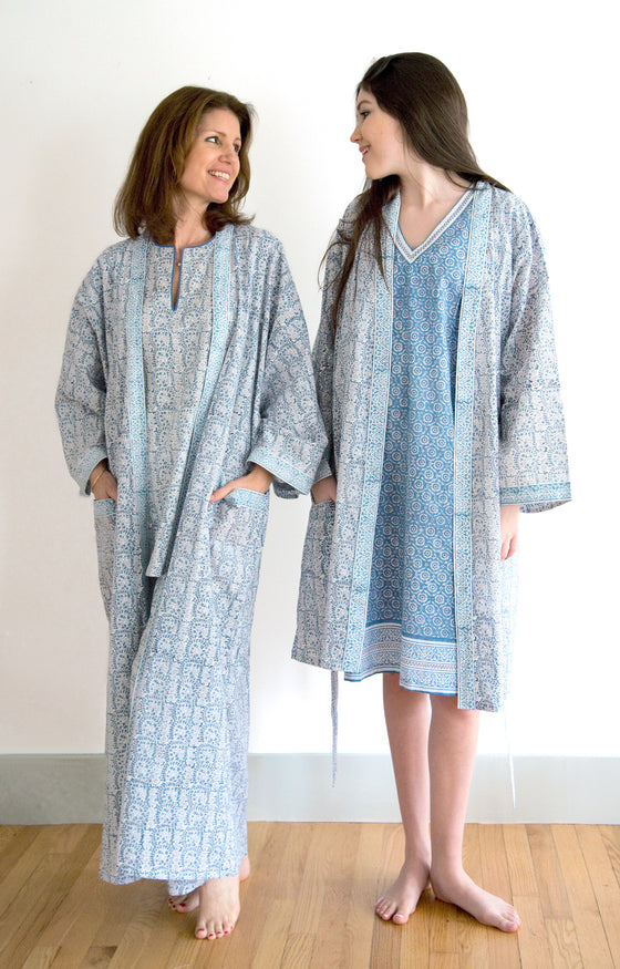 Long Kimono in Wedgwood Lace