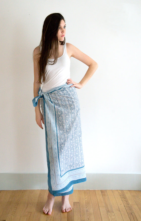 Sarong in Wedgwood Lace