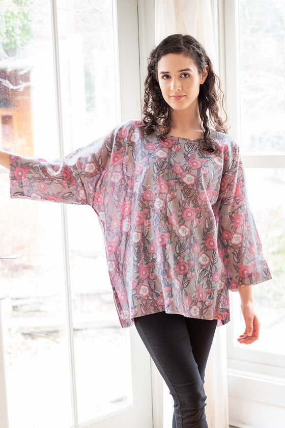 Easy Shirt in Wild Rose
