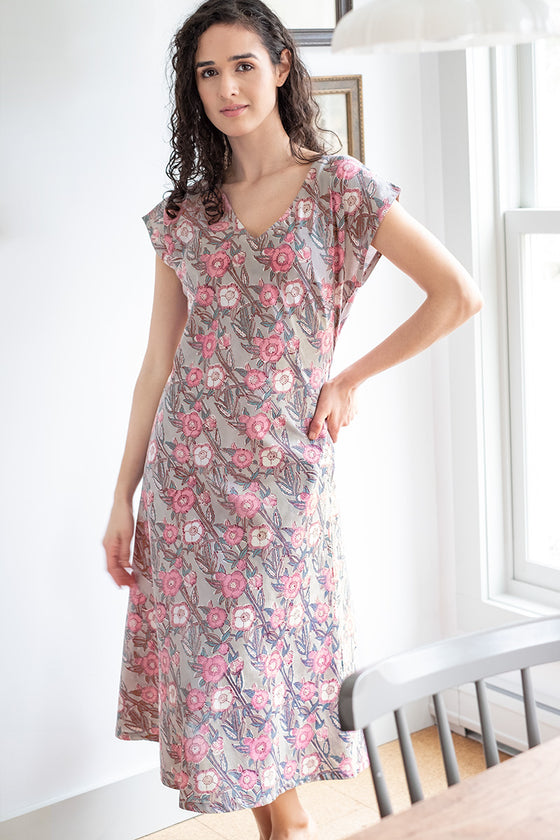 Ella Dress in Wild Rose