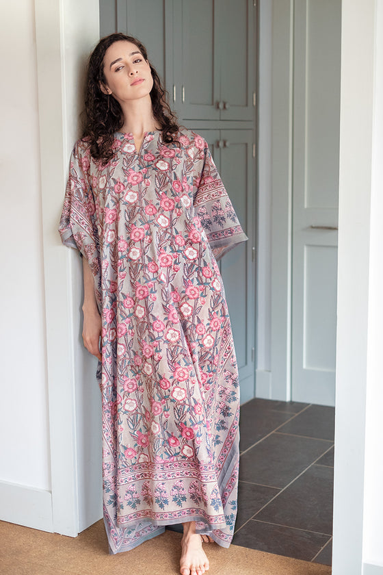Kaftan in Wild Rose