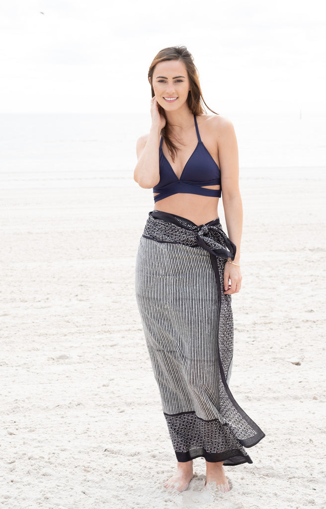 Sarong in Zipper Stripe