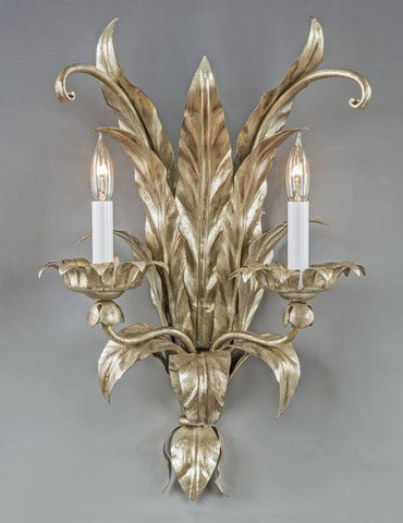metal leaf sconce