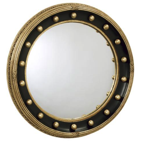 Round Girandole Mirror with Greek Design