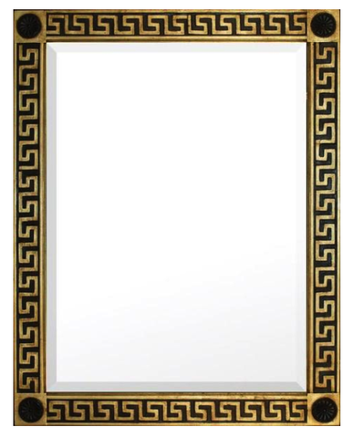 Greek Key Design Beveled Mirror