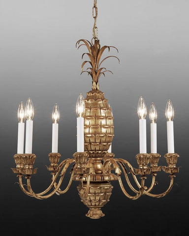 Metal and wood pineapple design chandelier LCFI-32