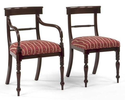 Regency style carved twisted rope back design arm chair and side chair FSFI-10