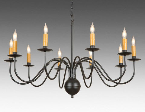 Metal Chippendale Style Ten Light Chandelier LCHSC-17