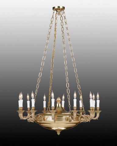Cast brass Federal style chandelier LCFI-43