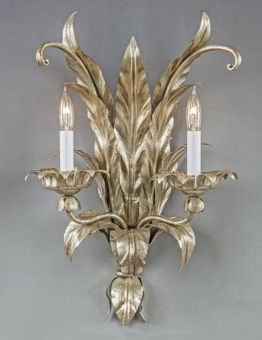 Metal Leaf Design Sconce LSFI-116B