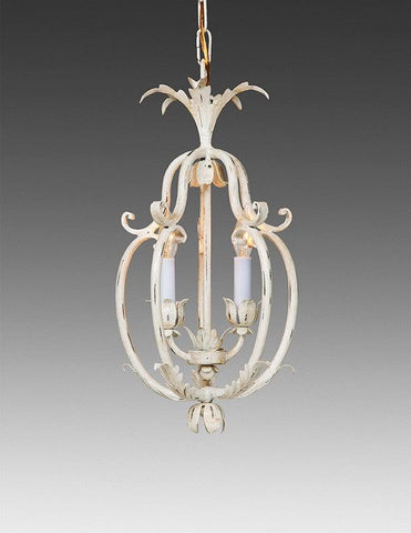 Wrought Iron Floral And Leaf Cage Design Chandelier LCFI-71A