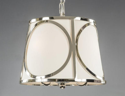 Cage Style Lantern With Fabric Shade LL-151