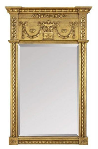 Beveled Mirror With Rope Molding And Festoon Decoration MF-14A