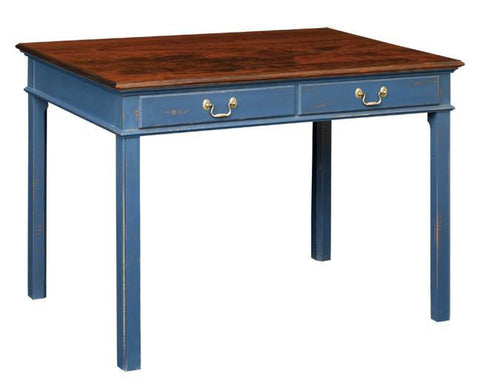 Writing Table With Two Drawers And Legs With A Bead FDS-21