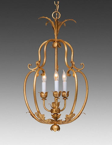 Wrought Iron Floral And Leaf Cage Design Chandelier LCFI-70
