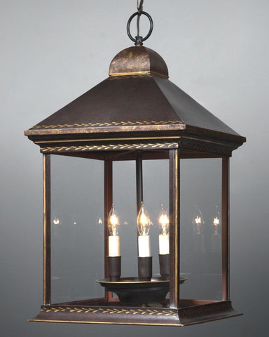 Tole Lantern With Mottled Finish LL-30B
