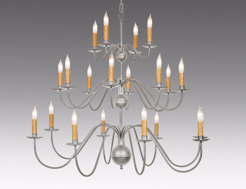 Metal Chippendale Style Twenty Light Tiered Chandelier LCHSC-16