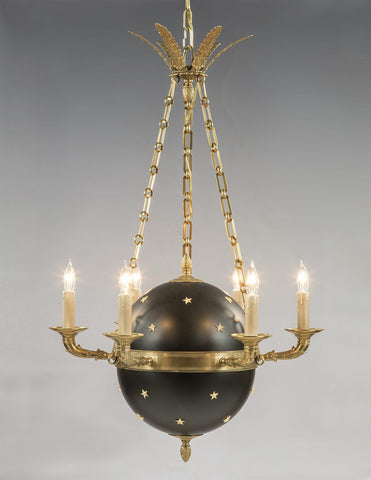 Regency Style Star Ball Design Six Light Chandelier LCFI-80