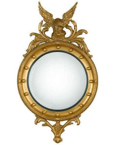 Regency Round Girandole Convex Mirror With Eagle And Decoration MC-11