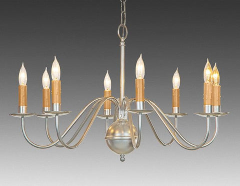 Metal Chippendale Style Eight Light Chandelier LCHSC-14