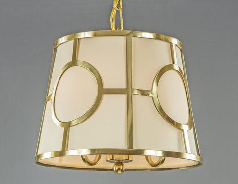 Cage Style Lantern With Fabric Shade LL-150