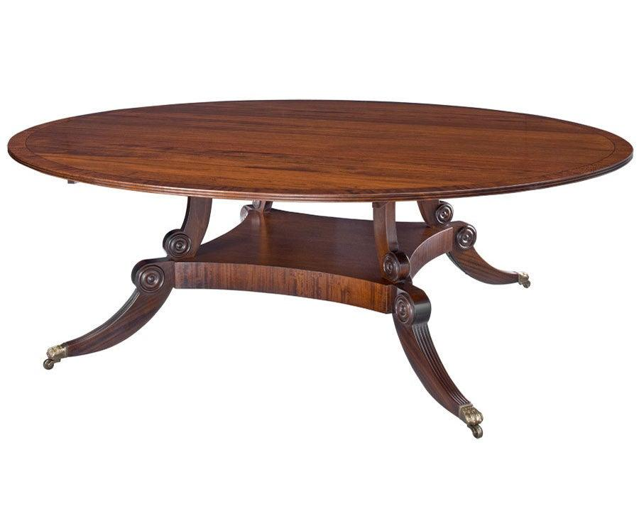 Regency Style Pedestal Round Dining Table FDTF 18a