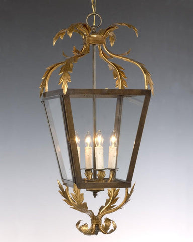 Top And Bottom Scroll Leaf Design Hanging Lantern LL-25
