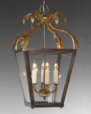 Scroll Leaf Design Hanging Lantern LL-24A