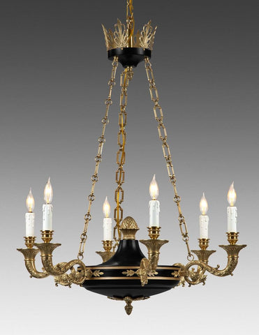 Cast Brass Federal Style Chandelier LCFI-59