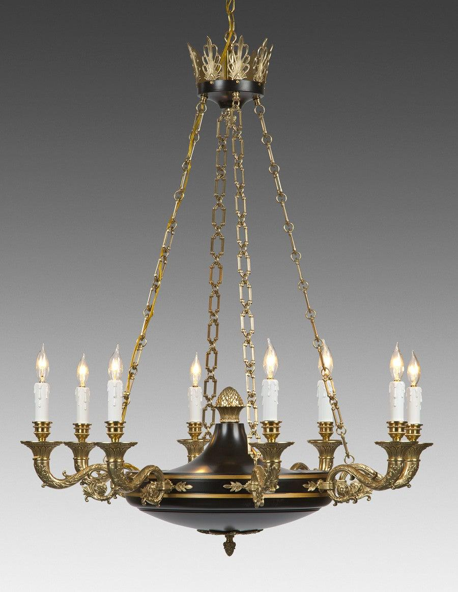 Reproduction Antique Brass Chandelier With Chain Federal Style Lcfi 6 Federalist