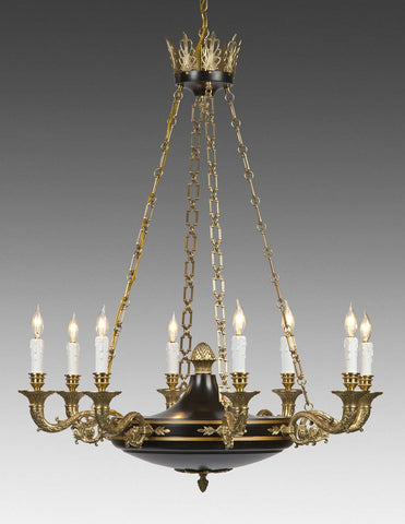 Cast Brass Federal Style Chandelier LCFI-60