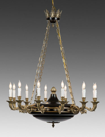 Cast Brass Federal Style Chandelier LCFI-61
