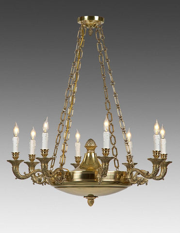 Cast Brass Federal Style Chandelier LCFI-57