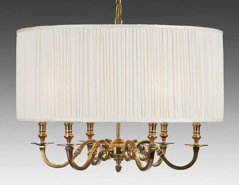 Brass And Drum Style Fabric Shade Six Light Chandelier LCFI-64a & Reproduction Lighting u0026 Federal Style Lighting   The Federalist azcodes.com