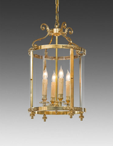 Scroll Leaf Arm Lantern With Decoration LL-77