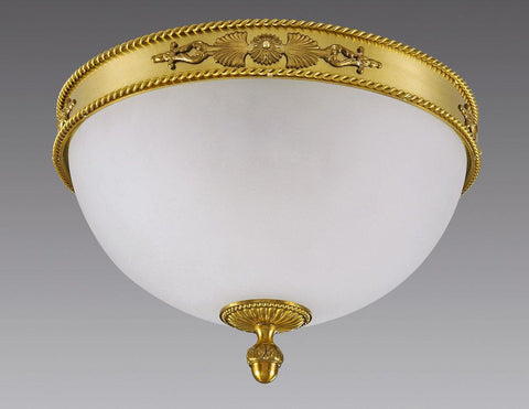Band With Braided Top And Bottom Edge Ceiling Mount Lantern LCM-26